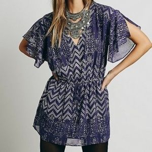 Free People Love Your Chaos Purple Silver Dress